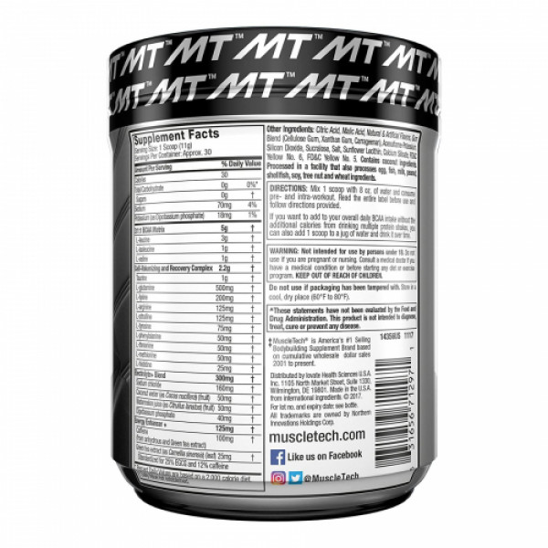 Muscletech Platinum Amino Energy Tropical Mango, 317gm