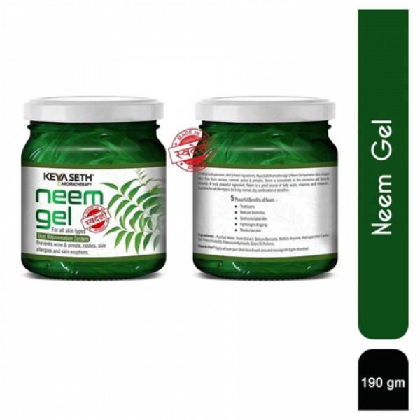 Keya Seth Aromatherapy Neem Skin Care Combo, 450ml (Scrub + Toner + Facewash + Gel Moisturiser)