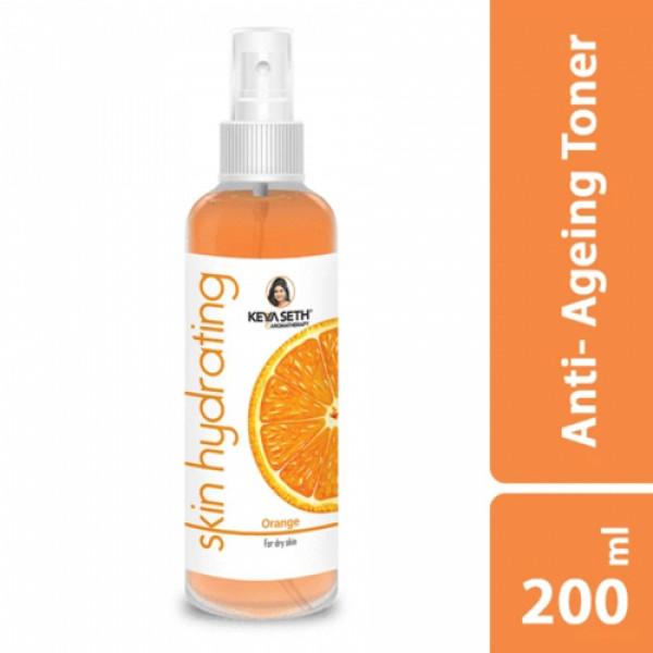 Keya Seth Aromatherapy Orange Combo, 510ml (Scrub + Toner + Cream + Lip Jelly + Body Oil)