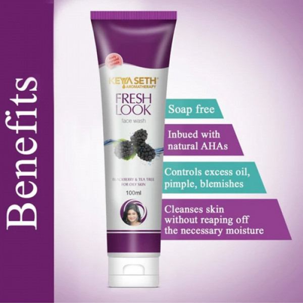 Keya Seth Aromatherapy Fresh Look Blackberry Face Wash, 100ml