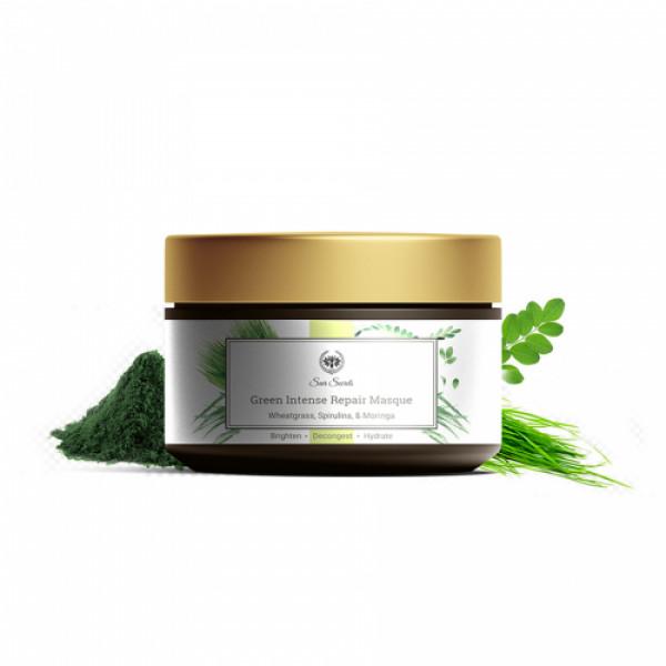 Seer Secrets Wheatgrass, Spirulina & Moringa Green Intense Repair Masque, 40gm