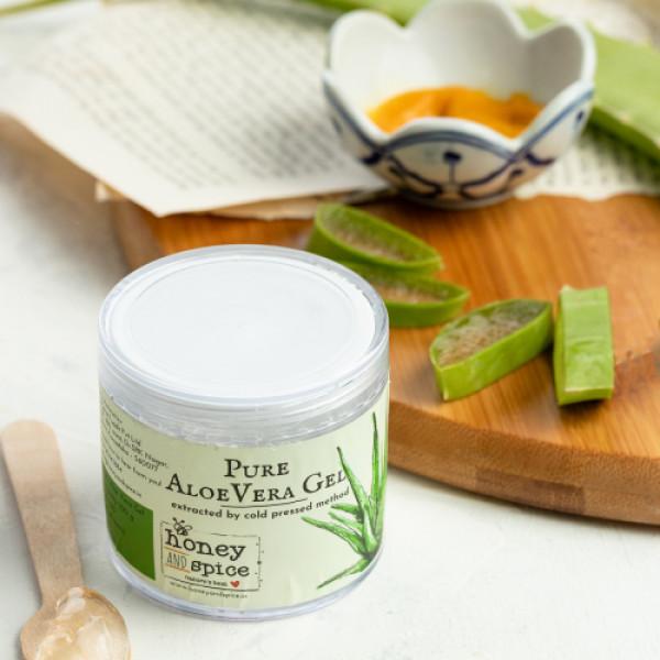 Honey and Spice Pure Aloe Vera Gel, 100gm