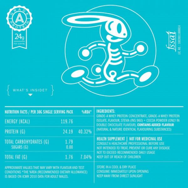 Habbit Active Whey Blend Protein Powder Mega Mango Flavour, 210gm (7 Servings)