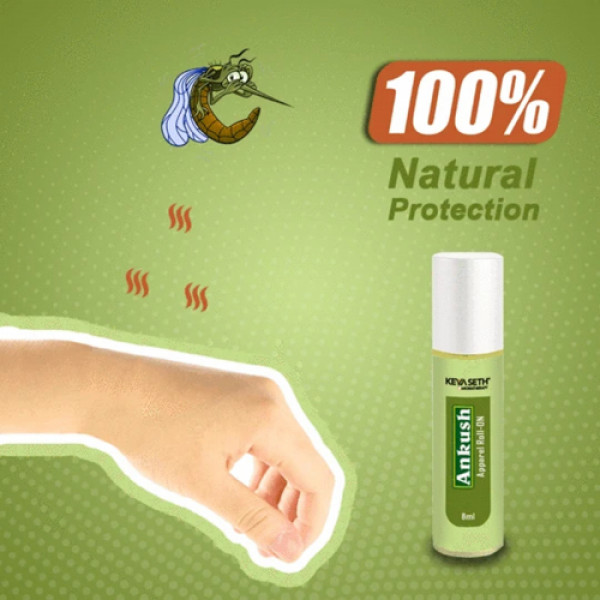 Keya Seth Aromatherapy Ankush Apparel Roll On Mosquito Repellent, 8ml
