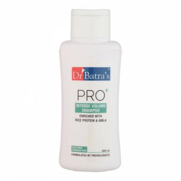 Dr Batra's Hair Vitalizing Serum, 125ml & Pro+ Intense Volume Shampoo, 500ml with Hair Oil, 200ml Combo Pack