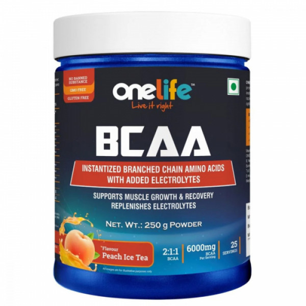 Onelife BCAA Peach Ice Tea, 250gm