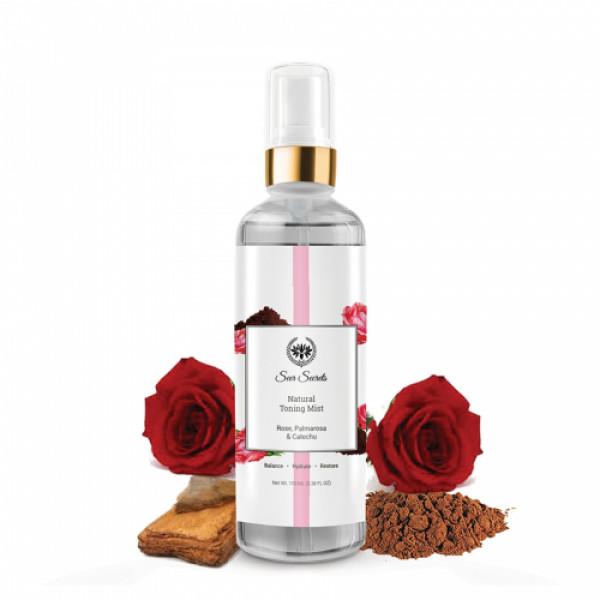 Seer Secrets Rose, Palmarosa & Catechu Natural Toning Mist, 100ml