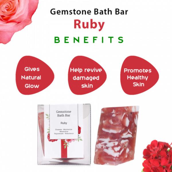 Seer Secrets Ruby Gemstone Bath Bar, 160gm