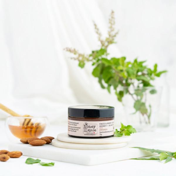 Honey and Spice Honey & Almond Face & Body Scrub, 75gm