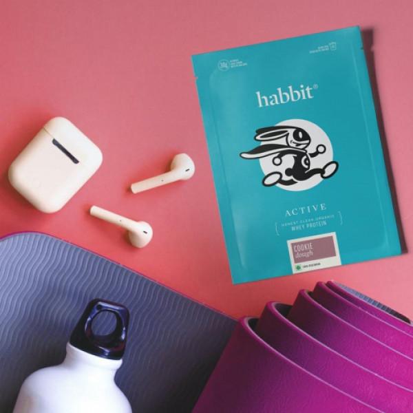 Habbit Active Whey Blend Protein Powder Cookie Dough Flavour, 450gm (15 Servings)