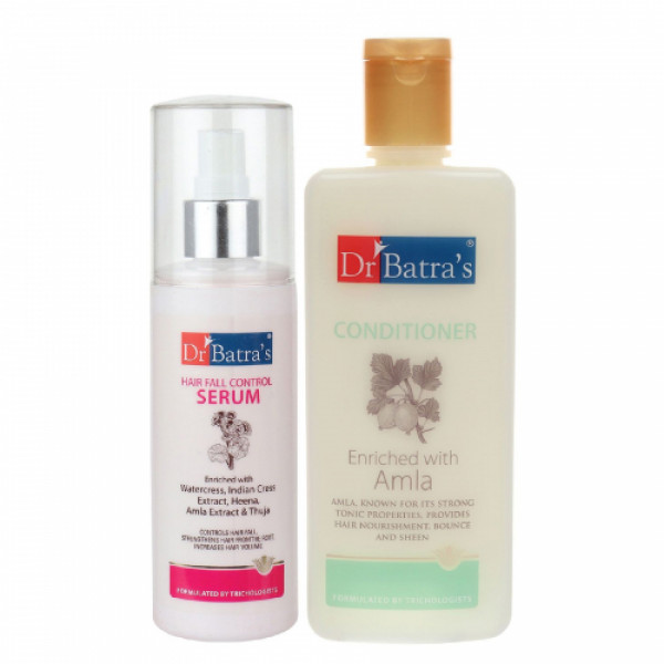 Dr Batra's Hair Fall Control Serum, 125ml With Conditioner, 200ml Combo Pack