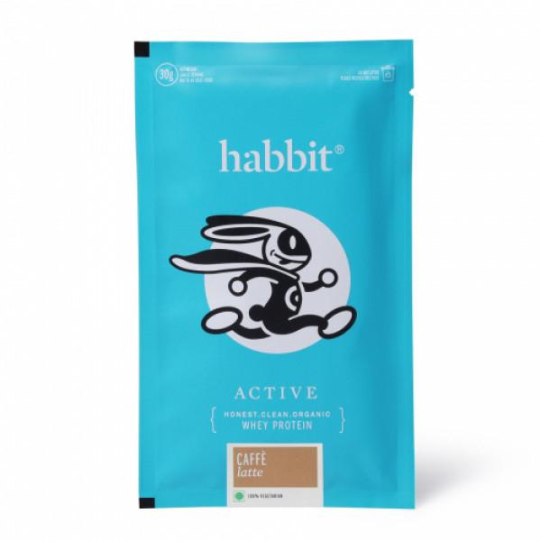 Habbit Active Whey Blend Protein Powder Caffe Latte Flavour, 900gm (30 Servings)