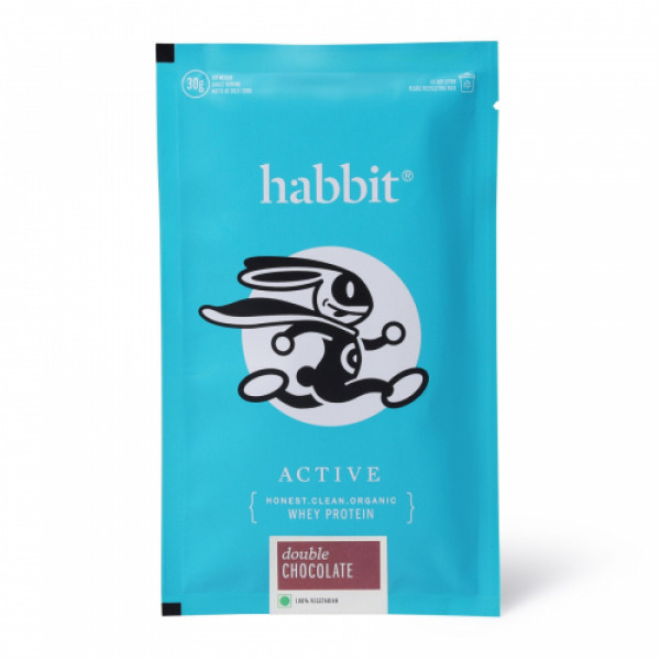 Habbit Active Whey Blend Protein Powder Double Chocolate Flavour, 900gm (30 Servings)
