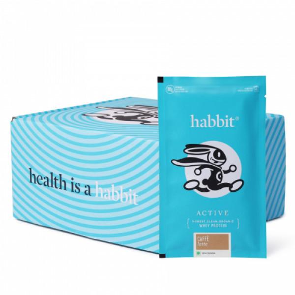 Habbit Active Whey Blend Protein Powder Caffe Latte Flavour, 210gm (7 Servings)