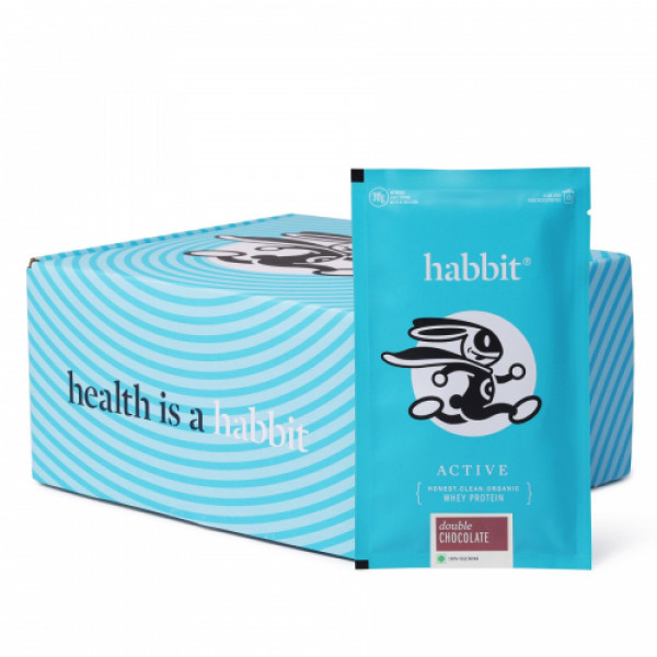 Habbit Active Whey Blend Protein Powder Double Chocolate Flavour, 450gm (15 Servings)