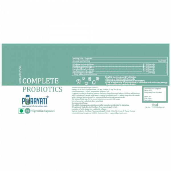 Purayati Complete Probiotics, 90 Capsules
