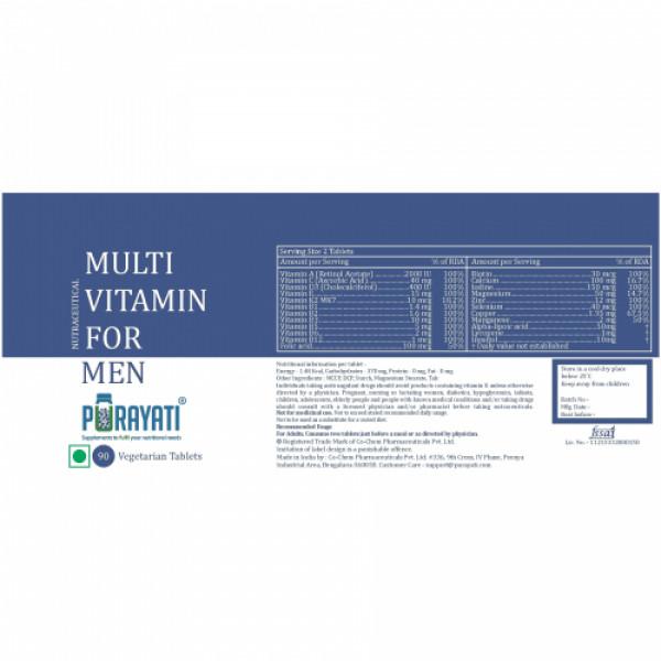 Purayati Multivitamin for Men, 90 Tablets