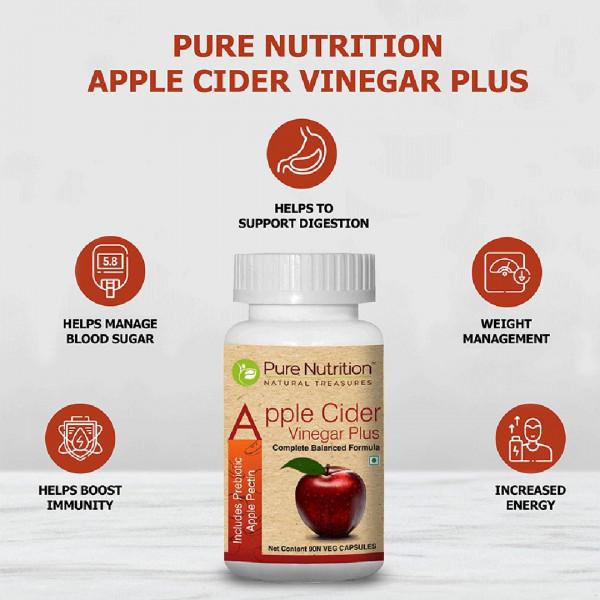 Pure Nutrition Apple Cider Vinegar Plus, 90 Capsules