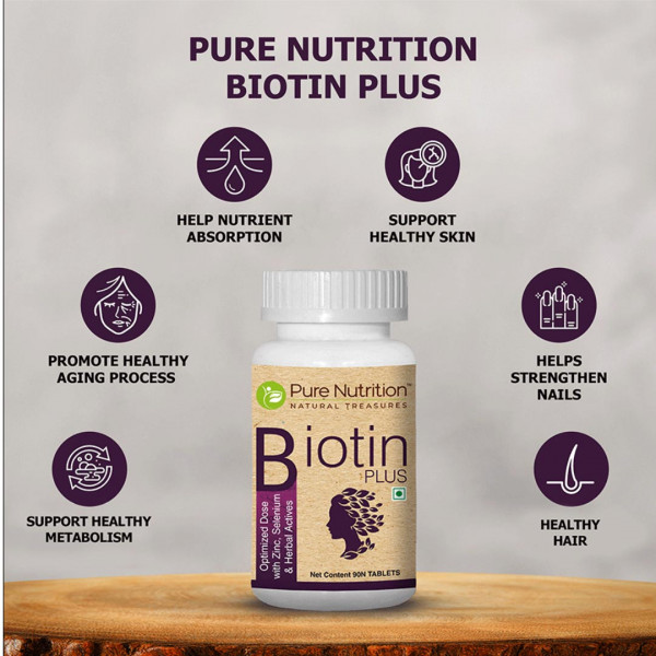 Pure Nutrition Biotin Plus, 60 Tablets