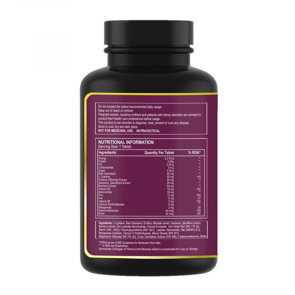 Pure Nutrition Biotin with Amla & Bamboo Extracts, 60 Tablets