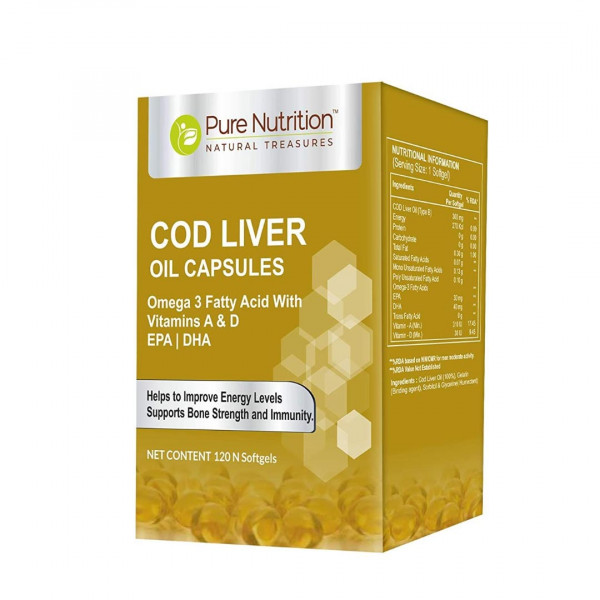 Pure Nutrition COD Liver Oil, 120 Softgels