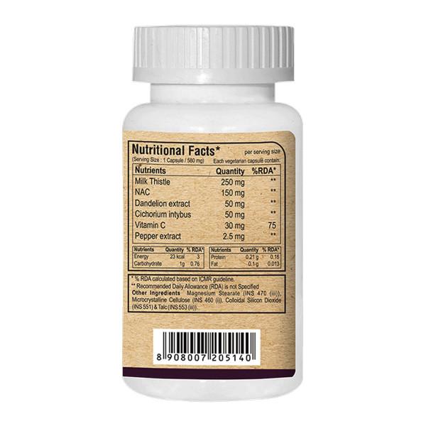 Pure Nutrition Detox Liver Milk Thistle Ultra, 60 Capsules