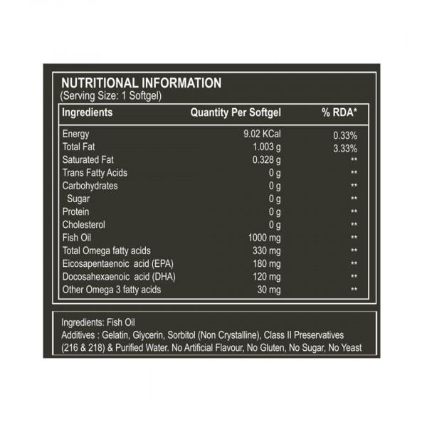 Pure Nutrition Omega 3 Fish Oil, 60 Capsules