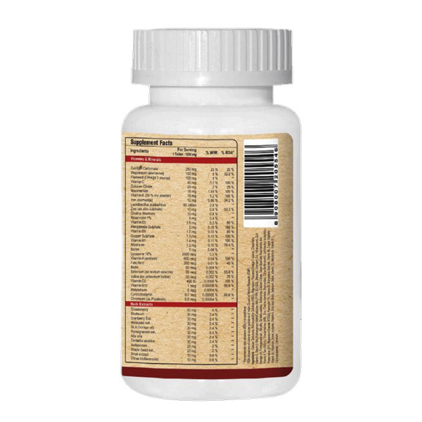 Pure Nutrition Women's Multi Vita With 42 Vital Nutrients, 60 Tablets