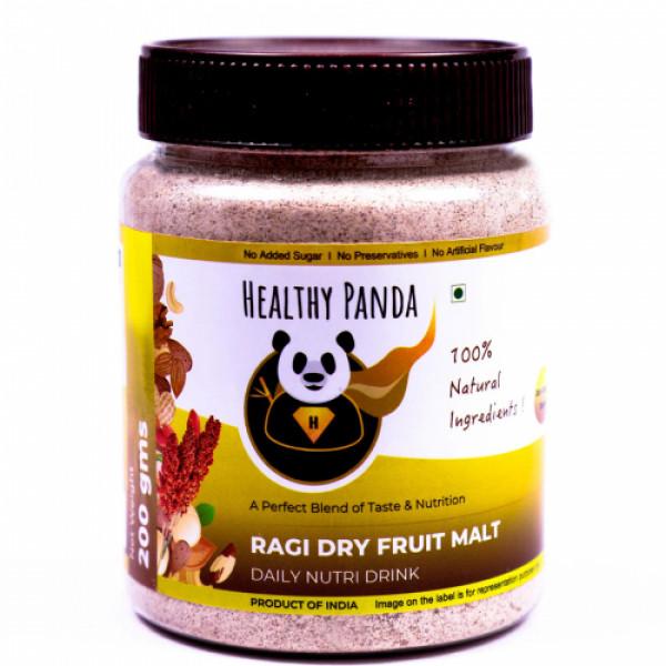 Healthy Panda Ragi Dry Fruit Malt - Daily Nutrition Drink, 250gm