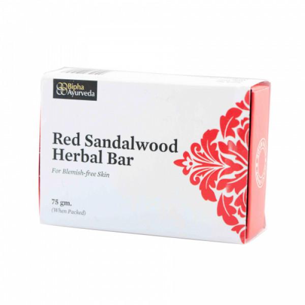 Bipha Ayurveda Red Sandal Wood Herbal Bar, 75gm