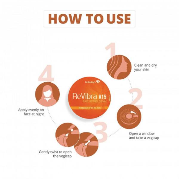 ReVibra A15 Pure Retinol Cream, 28 Vegicaps