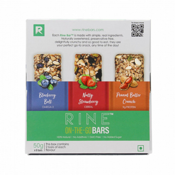 Rine Assorted Granola Protein Bar, 50gm (Pack Of 6)