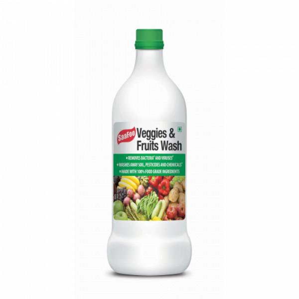 Saafoo Veggies and Fruits Wash - Removes Bacteria & Viruses, 500ml