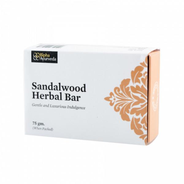 Bipha Ayurveda Sandalwood Herbal Bar, 75gm