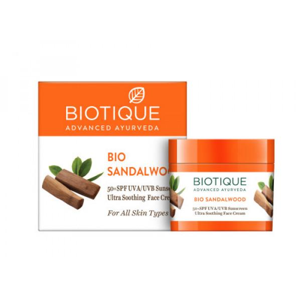 Biotique Bio Sandalwood SPF 50+ Sunscreen, 50gm