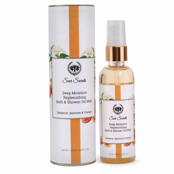 Seer Secrets Sedative Jasmine & Orange Deep Moisture Replenishing Bath & Shower Oil, 100ml