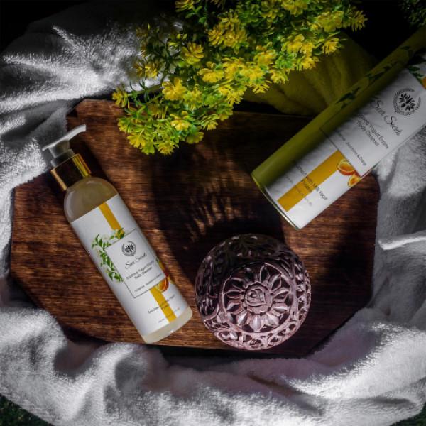 Seer Secrets Sedative Jasmine & Orange Soothing Yogurt Enzyme Body Cleanser, 200ml