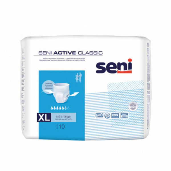 Seni Active Classic Breathable Pull-Ups X-Large, 10 Pieces