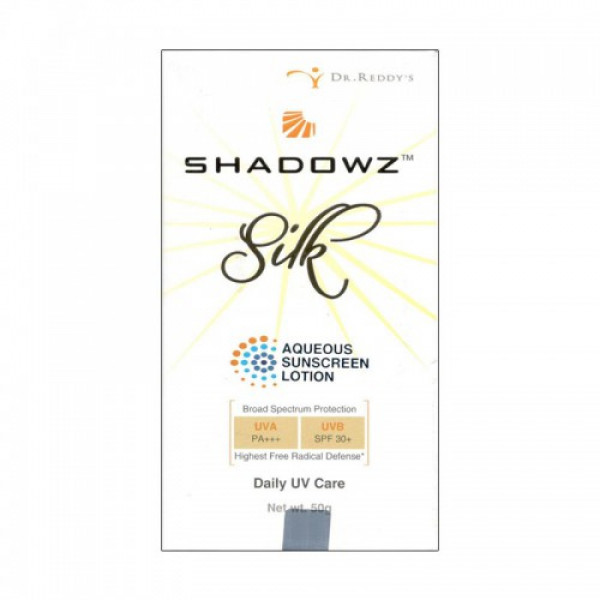 Shadowz Silk Aqueous Sunscreen Lotion, 50gm