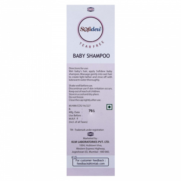Sofidew Baby Shampoo, 100ml