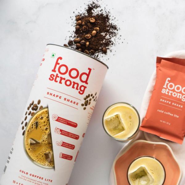 Foodstrong Shape Shake Cold Coffee Lite, 528gm