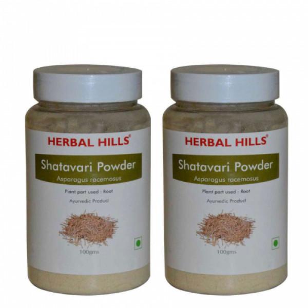 Herbal Hills Shatavari Powder, 100gm (Pack Of 2)