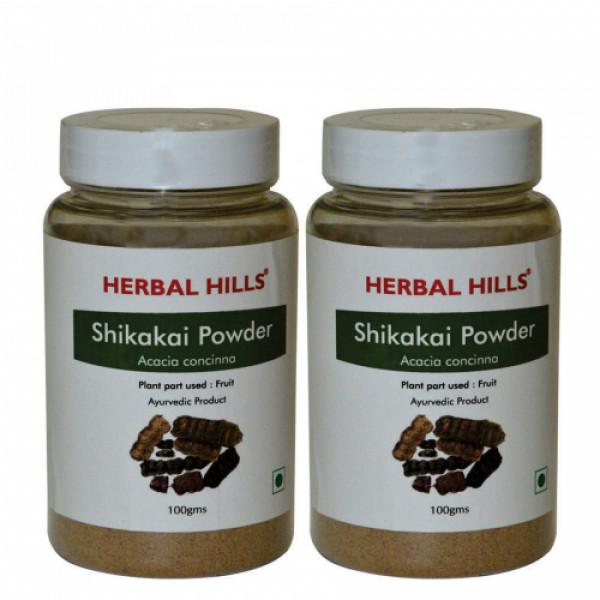 Herbal Hills Shikakai Powder, 100gm (Pack Of 2)