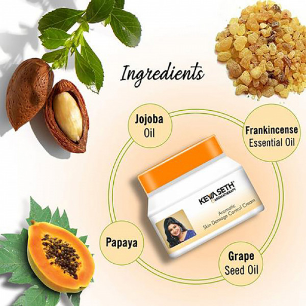 Keya Seth Aromatherapy Skin Damage Control Cream with Serum (Pack of 2)
