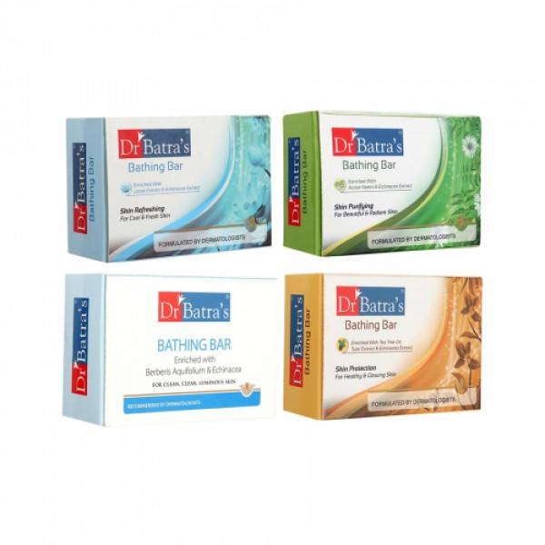 Dr Batra's Skin Refreshing Bathing Bar, Purifying Bathing Bar, Protection Bathing Bar And Bathing Bar Combo Pack