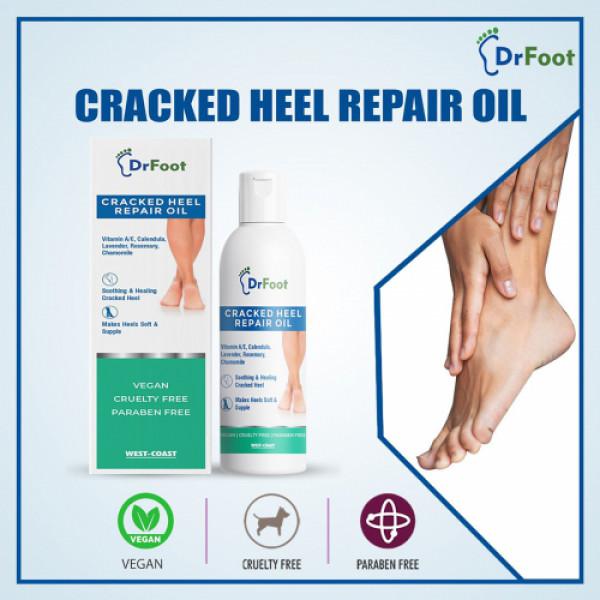 Dr Foot Cracked Heel Repair Oil for Soothing & Healing, 100ml