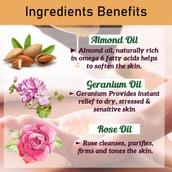 Seer Secrets Smoky Rose Geranium Deep Moisture Replenishing Bath & Shower Oil, 100ml