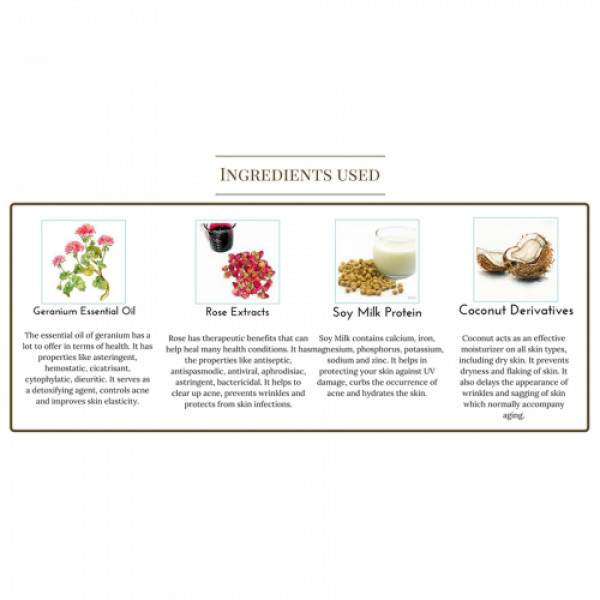 Seer Secrets Smoky Rose Geranium Hydrating Soy Milk Enzyme Body Cleanser, 200ml
