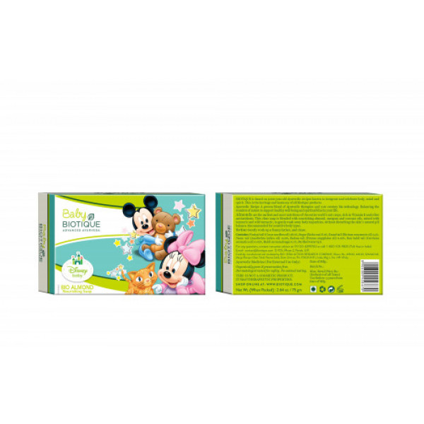 Biotique Bio Almond Mickey Nourishing Soap, 75gm
