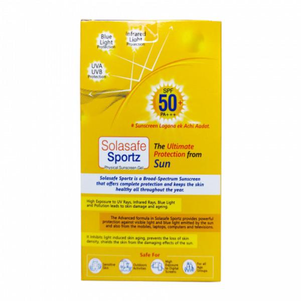 Solasafe Sportz Physical Sunscreen Gel SPF 50+ PA+++, 50gm